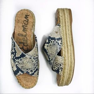 NEW Sam Edelman Natty Platform Espadrille Sandals